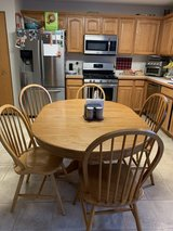 Kitchen table with leaf. in Joliet, Illinois