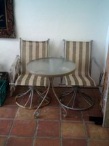Outdoor small table with two chairs in Alamogordo, New Mexico