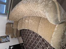 PCS- A four cushion curved couch and two matching swivel chairs in Ramstein, Germany