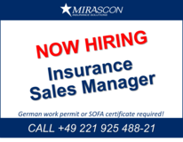 Insurance Sales Manager (m/f/d) - Part Time in Ramstein, Germany