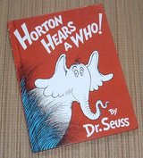 Vintage 1982 Dr Seuss Horton Hears A Who Over Sized Hard Cover Book in Joliet, Illinois