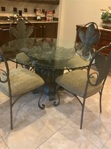glass table and 4 chairs in Baytown, Texas