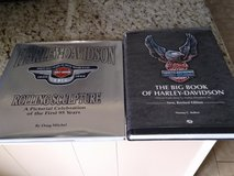 Harley Davidson big book and rolling sculpture in Kingwood, Texas