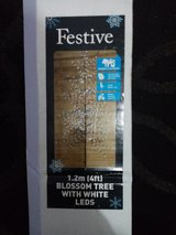 Festive 1.2m 4ft blossom tree with white LEDS in Lakenheath, UK