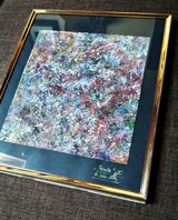 """Palette""Abstract, framed in Ramstein, Germany"