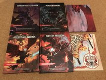 discounted D&D roleplaying set (the core rulenbooks) for players and dungeonmaster in Lakenheath, UK