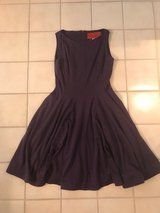 DRESS DARK PURPLE / RED LINING  LIKE NEW SIZE 4 $30 in Bellaire, Texas
