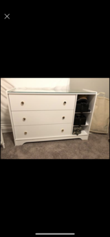 White drawer chest in Tinker AFB, Oklahoma