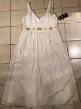 DRESS - NEW WHITE EYELET COTTON SIZE 10  PERFECT FOR HOUSTON only $20 in Bellaire, Texas