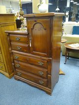 Pine Chest of Drawers with Attached Cabinet in Bolingbrook, Illinois