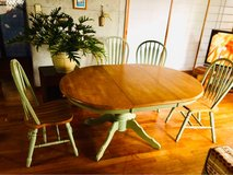 ?Used?Island taste Dining Table with 4Chairs! in Yokota, Japan