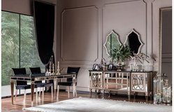 United Furniture - Complete Dining Set Class - Table+6 Chairs+Sideboard+Mirrors+Vitrine + delivery in Wiesbaden, GE