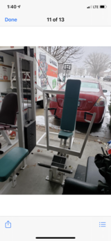Cybex chest press in Oswego, Illinois
