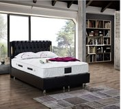 United Furniture - Bahama Full Size bed in black or white with storage incl. mattress and delivery. in Stuttgart, GE