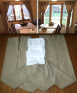 4 Panels Beige Drapes - AND/OR 4 White Sheer Panels - AND/OR Curtain Rods in Orland Park, Illinois