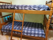 Wooden Bunk Beds (includes safety side rails, not pictured) in Naperville, Illinois