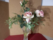 Pink Roses in Vase in Naperville, Illinois