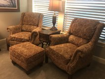 Living room chairs (2) and ottoman (1) in Kingwood, Texas