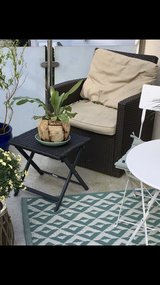 outdoor chair & footrest with cushions in Wiesbaden, GE