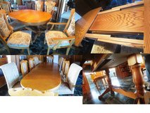 Dining Room Table & Chairs sits 4-10 with leaves in Stuttgart, GE