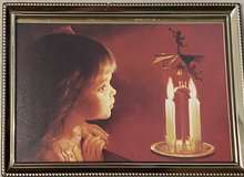 "Donald Zolan Limited Edition Christmas Card ""Sarah & Candle Carousel"" in Okinawa, Japan"
