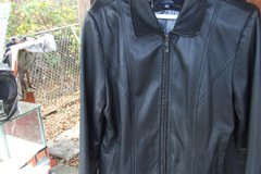 BLACK LAMBSKIN LADIES JACKET IN LIKE NEW CONDITION SIZE LARGE in Camp Lejeune, North Carolina
