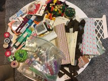 Large Lot of Sewing Supplies- Embroidery Thread/Glitter/Vintage Trim in Batavia, Illinois