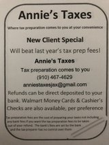 Affordable Tax Preparation at your convenience in Camp Lejeune, North Carolina
