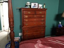 Cherry wood 5 pc bedroom set price reduced in Byron, Georgia