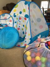 Play tent with tunnel and ball pit. Comes with hundreds of play balls. in Tacoma, Washington