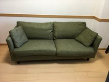 Green sofa (reserved) in Okinawa, Japan