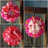 Wreaths and swags for Valentine's and Mardi Gras in Pearland, Texas