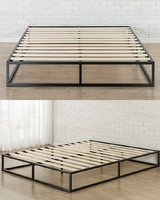 Platform King Bed Frame with Box Springs in Beaufort, South Carolina