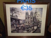 painting souvenir from Paris in Ramstein, Germany