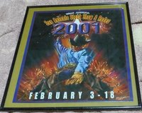 Framed poster from the 2001 San Antonio Stock Show & Rodeo in Okinawa, Japan