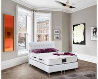 United Furniture - White Full Size Storage Bed Bahama complete with Mattress and Delivery in Ramstein, Germany