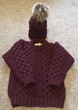 Aran Jumper and Hat Set in Lakenheath, UK