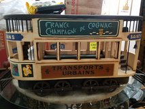 "Vintage French wood & cast iron Double Decker street trolley display model, 26"" in Melbourne, Florida"