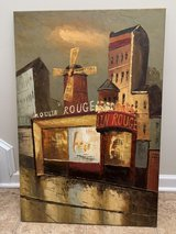 Moulin Rouge painted canvas in Beaufort, South Carolina