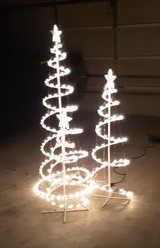 3 outdoor Christmas trees in The Woodlands, Texas