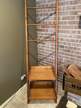 Leaning shelf in Chicago, Illinois
