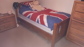 Solid wood single bed with storage in Lakenheath, UK