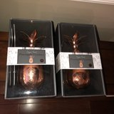 """2 Brand New 9"""" Copper Finish Pineapple Tumblers with Straw - 17 oz in Aurora, Illinois"""