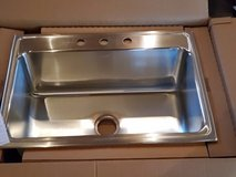 Elkay single bowl deep kitchen sink in Camp Lejeune, North Carolina