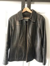 Ladies Leather Bomber Jacket in St. Charles, Illinois