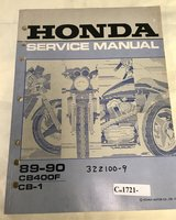 Honda CB-1 CB400F 400cc 1989-1990 English Service Manual and Japanese Illustrated Parts in Okinawa, Japan