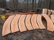 Live edge curved wild cherry slabs in Fort Campbell, Kentucky