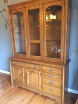China cabinet/ hutch- two pieces solid wood. in Pleasant View, Tennessee