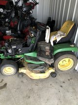 "john deere GT235 tractor for repair or parts 18hp. twin motor 48"" deck has small leak not bad. in Sandwich, Illinois"