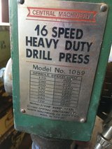 Central Machinery 16 speed heavy duty drill press in Alamogordo, New Mexico
